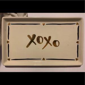 XOXO ceramic jewelry dish!!